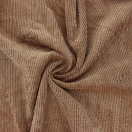 Washed ribbed velvet fabric - tobacco Jules x 10cm