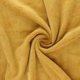 Tissu velours côtelé washé Jules - jaune moutarde x 10cm