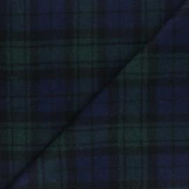 Tissu Lainage élasthanne à carreaux Jones - bleu x 10cm