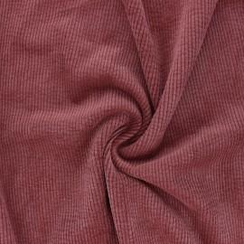 Tissu velours côtelé washé Jules - tomette x 10cm