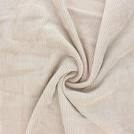 Tissu velours côtelé washé Jules - sable x 10cm