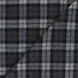 Tissu Lainage élasthanne à carreaux Williams - gris x 10cm