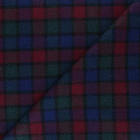 Checked elastane Wool fabric - multicolor Taylor x 10cm