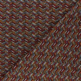Printed Jersey fabric - black Chevrons colorés x 10cm