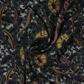 Tissu viscose Hedda - vert x 10cm