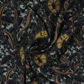 Viscose fabric - green Hedda x 10 cm