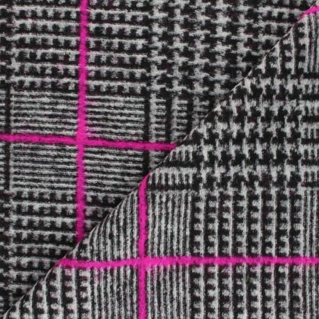 Houndstooth Wool fabric - grey Megan x 10cm