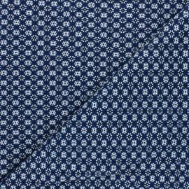 Tissu jersey Edouard - bleu x 10cm