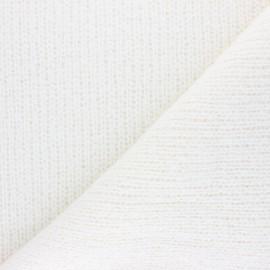Tissu Maille Tricot Martin - écru x 10cm