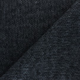 Mottled Knit fabric - dark grey x 10cm