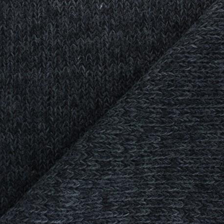 Mottled Knit fabric - dark grey x 10cm