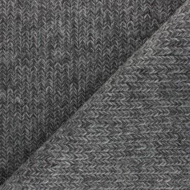 Mottled Knit fabric - grey x 10cm