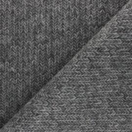 Tissu Maille Tricot chiné - gris x 10cm