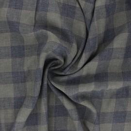 Tissu sergé viscose lurex Oliver - kaki x 10 cm