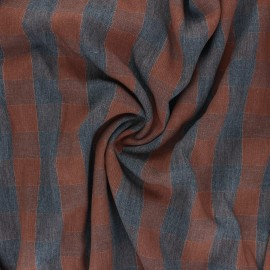 Lurex twill viscose fabric - brown Oliver x 10 cm