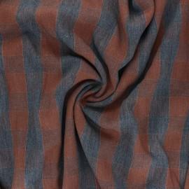Tissu sergé viscose lurex Oliver - marron x 10 cm