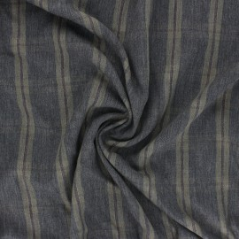 Tissu sergé viscose lurex Ethan - kaki x 10 cm