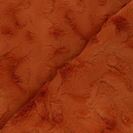 Fur fabric - rust Délice x 10cm