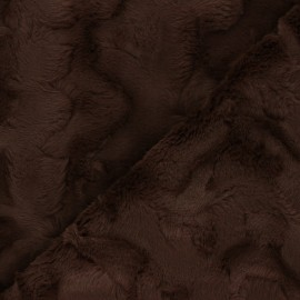 Fur fabric - chocolate Délice x 10cm