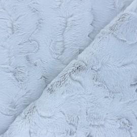 Fur fabric - pearl grey Délice x 10cm