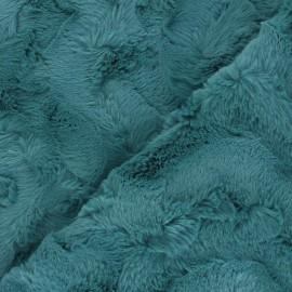 Fur fabric - peacock blue Délice x 10cm