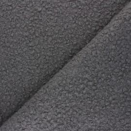 Boiled wool aspect fabric  - grey Maëlys x 10cm
