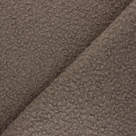 Boiled wool aspect fabric  - taupe Maëlys x 10cm