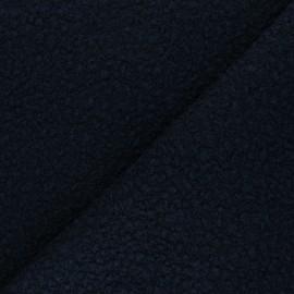 Boiled wool aspect fabric  - navy blue Maëlys x 10cm