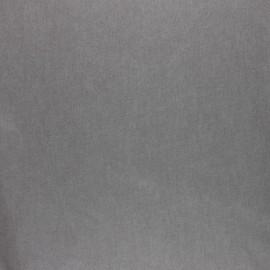 Tissu coton cretonne enduit nacré - taupe x 10cm