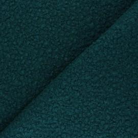 Boiled wool aspect fabric  - peacock green Maëlys x 10cm