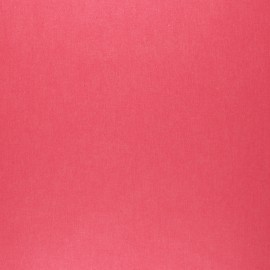 Pearly coated cretonne cotton fabric - grenadine pink x 10cm