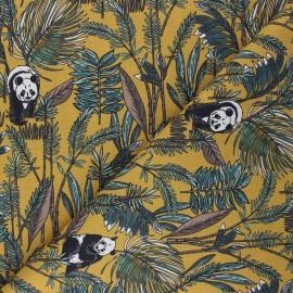Cretonne cotton fabric - mustard yellow Bambouseraie x 10cm
