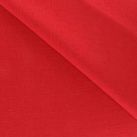 Tissu Viscose rouge x10cm
