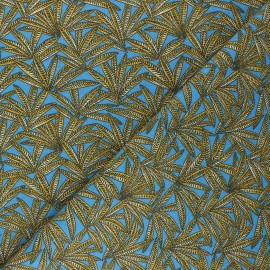 Cretonne cotton fabric - blue Janaina x 10cm