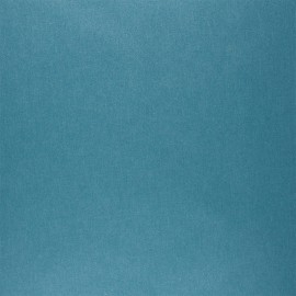 Pearly coated cretonne cotton fabric - duck blue x 10cm