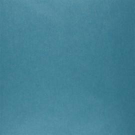 Tissu coton cretonne enduit nacré - bleu canard x 10cm