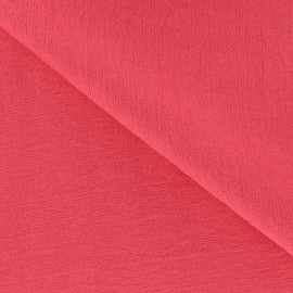 Crinkled Viscose Fabric - Strawberry Pink x 10cm
