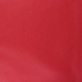 Pearly coated cretonne cotton fabric - red x 10cm