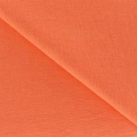 Crinkled Viscose Fabric - Melon x 10cm