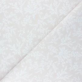 Cretonne cotton fabric - pink beige Brins x 10cm