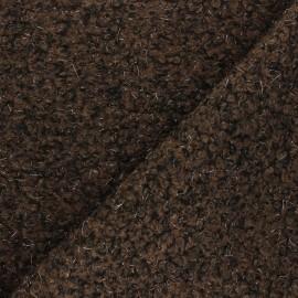 Boiled wool aspect fabric  - brown Gulia x 10cm