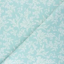 Cretonne cotton fabric - sarcelle Brins x 10cm