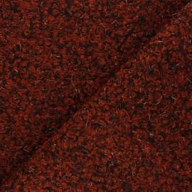Boiled wool aspect fabric  - rust Gulia x 10cm