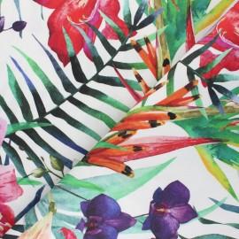 Special Outdoor canvas fabric (160cm) - white Noumea x 10cm