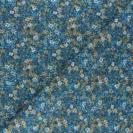 Cretonne cotton fabric - blue Clematite x 10cm
