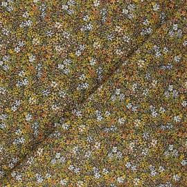 Tissu coton cretonne Clematite - jaune x 10cm