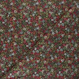 Tissu coton cretonne Clematite - rouge x 10cm