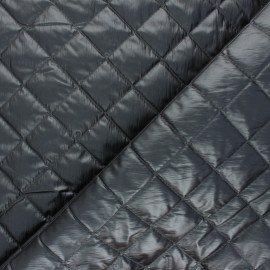 Quilted lining metallic fabric - dark grey Thiago x 10cm