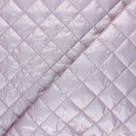 Quilted lining metallic fabric - powder pink Thiago x 10cm