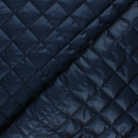 Quilted lining metallic fabric - navy blue Thiago x 10cm